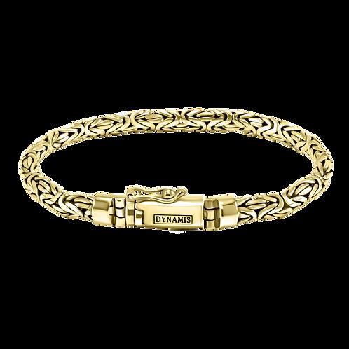 Byzantine 18k Yellow Gold bracelet | D-shape