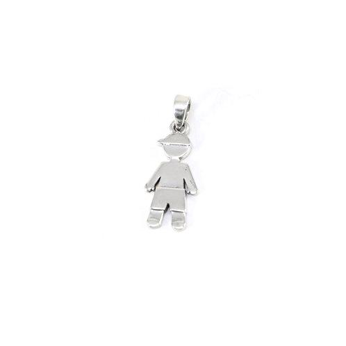 Sterling silver Boy pendant