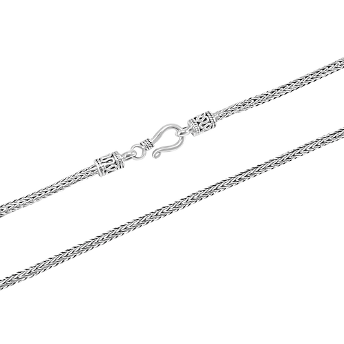 Foxtail link Sterling silver necklace (2.5 mm)