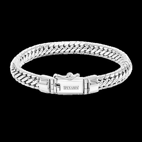 Woven snake Sterling silver bracelet (8 mm)