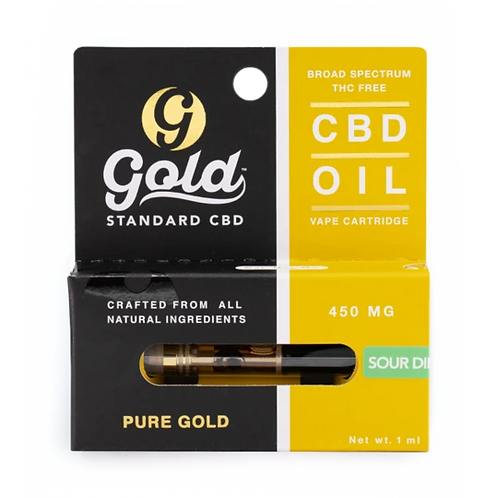 Gold Standard  450mg Vape Cartridge Broad Spectrum