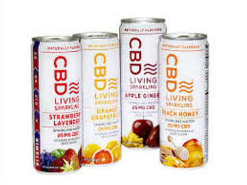CBD Living Sparkling Flavored Water 25mg
