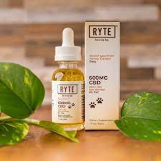 Ryte Brand 600mg Broad Spectrum Pet Tincture