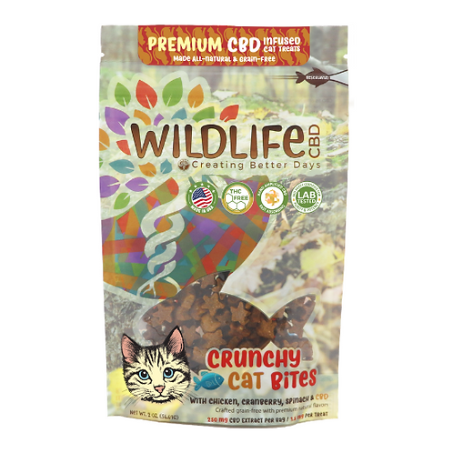 Wildlife CBD 250mg Crunchy Cat Bites