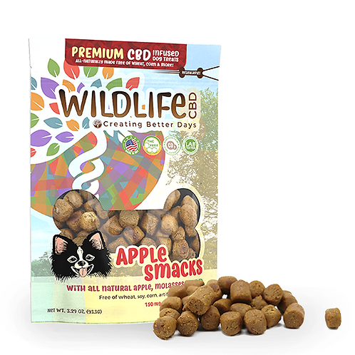 Wildlife CBD 150mg Apple Smacks Dog Treats