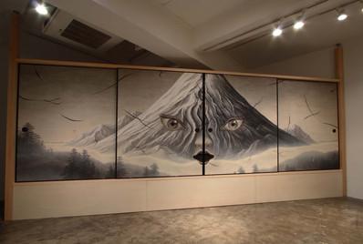 Hidden Mountain--Fusuma Painting(front)