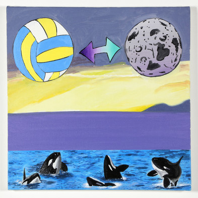 Volleryball and Moon