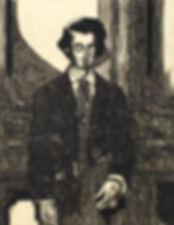 portrait of a captain H880xW680mm etchin