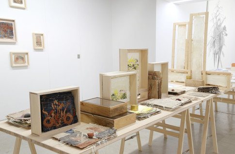 """Stitching Lamination Layer"" Installation view"