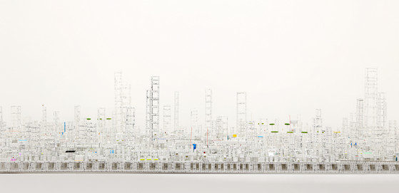 """Detail of """"Bonsai City"""""""