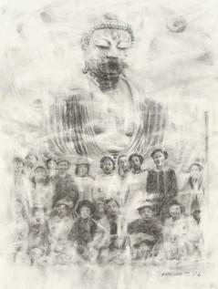 School Trip to the Great Buddha of Kamakura, 1966 (Drawing)