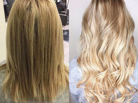 Get Long, Flowing hair with Aqua Hair Extensions!