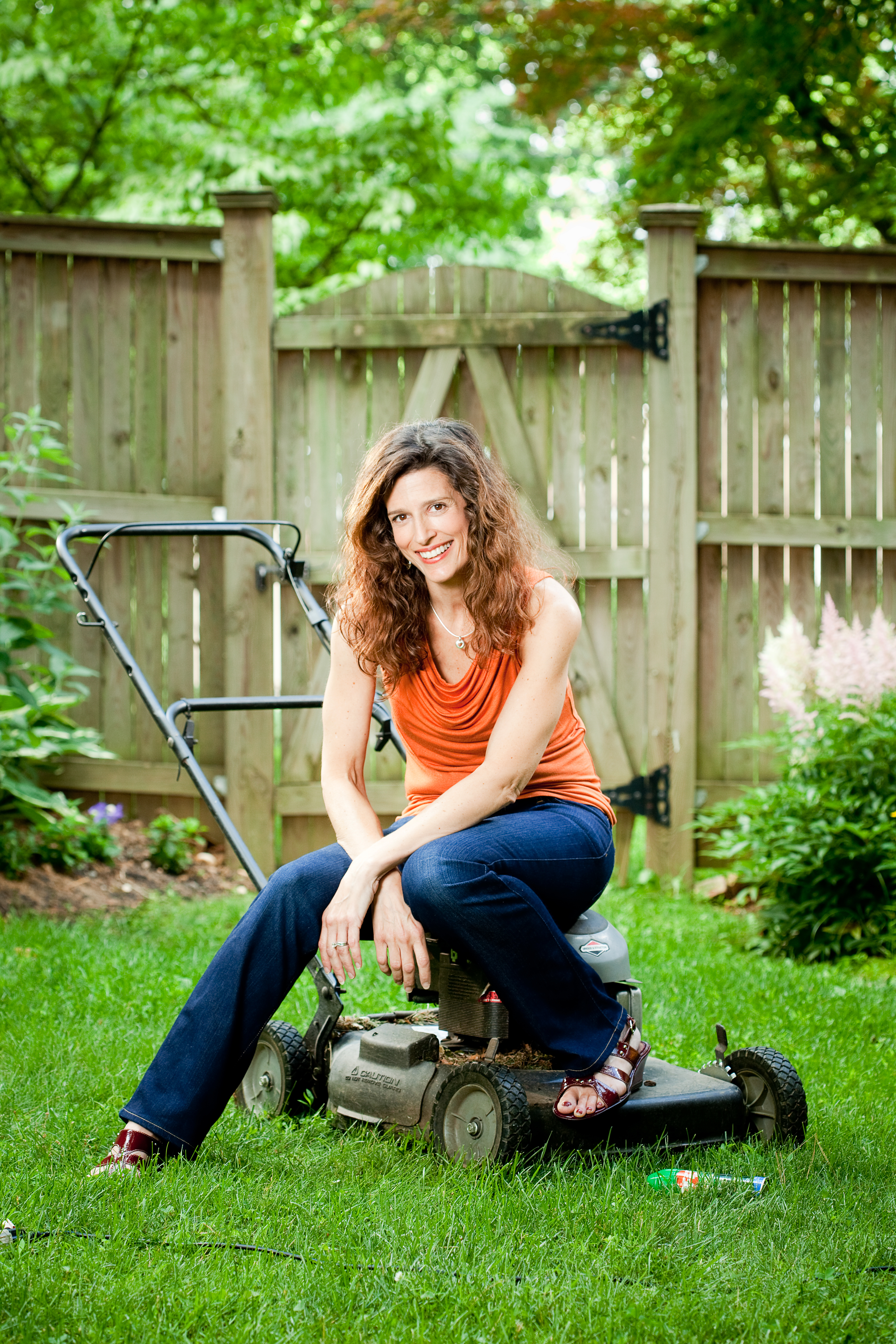 Portrait - Woman on a Lawnmower