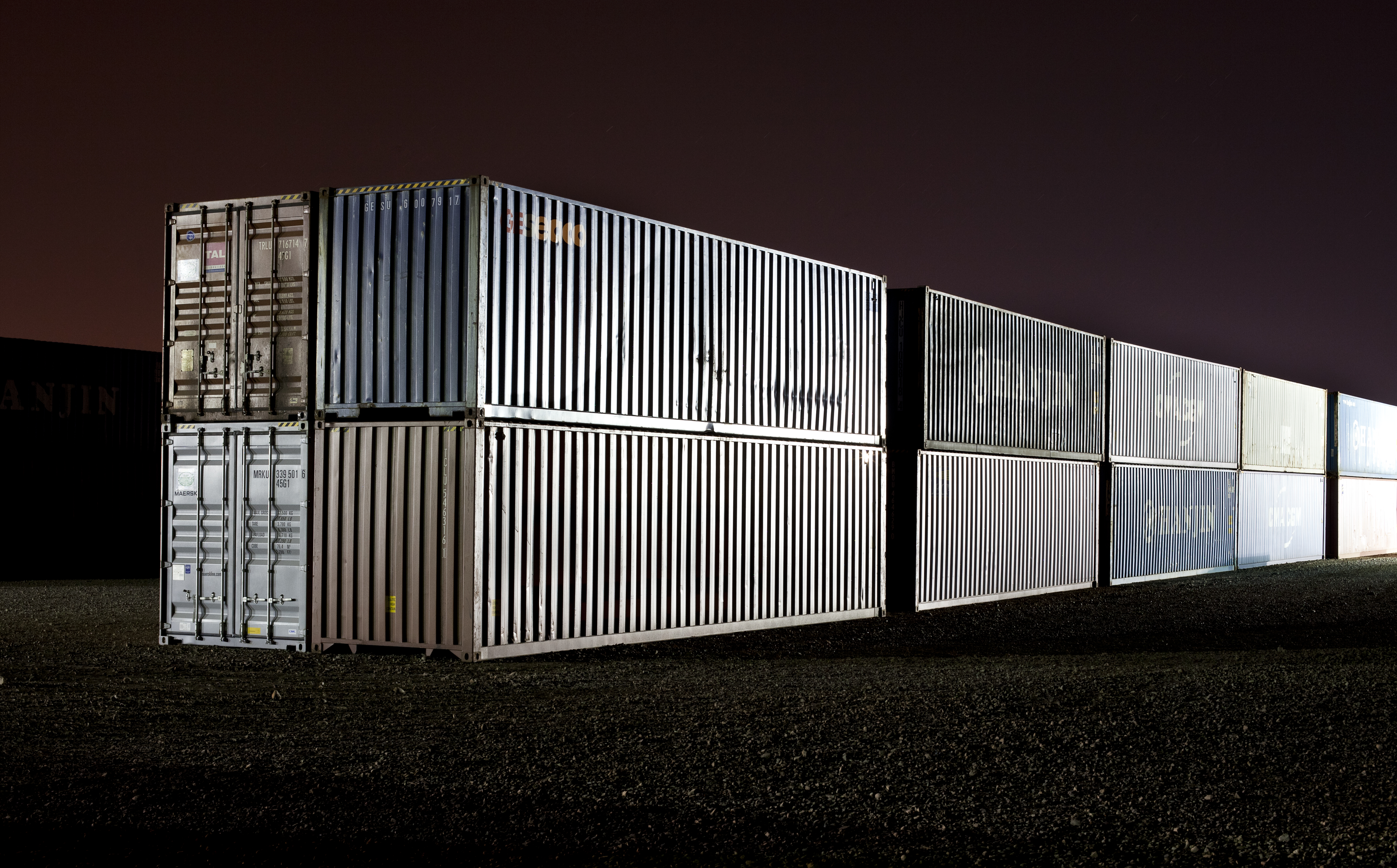 After Dark - Shipping Containers