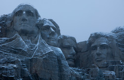 Mount Rushmore in Winter