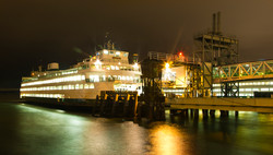 Seattle Ferry at Night