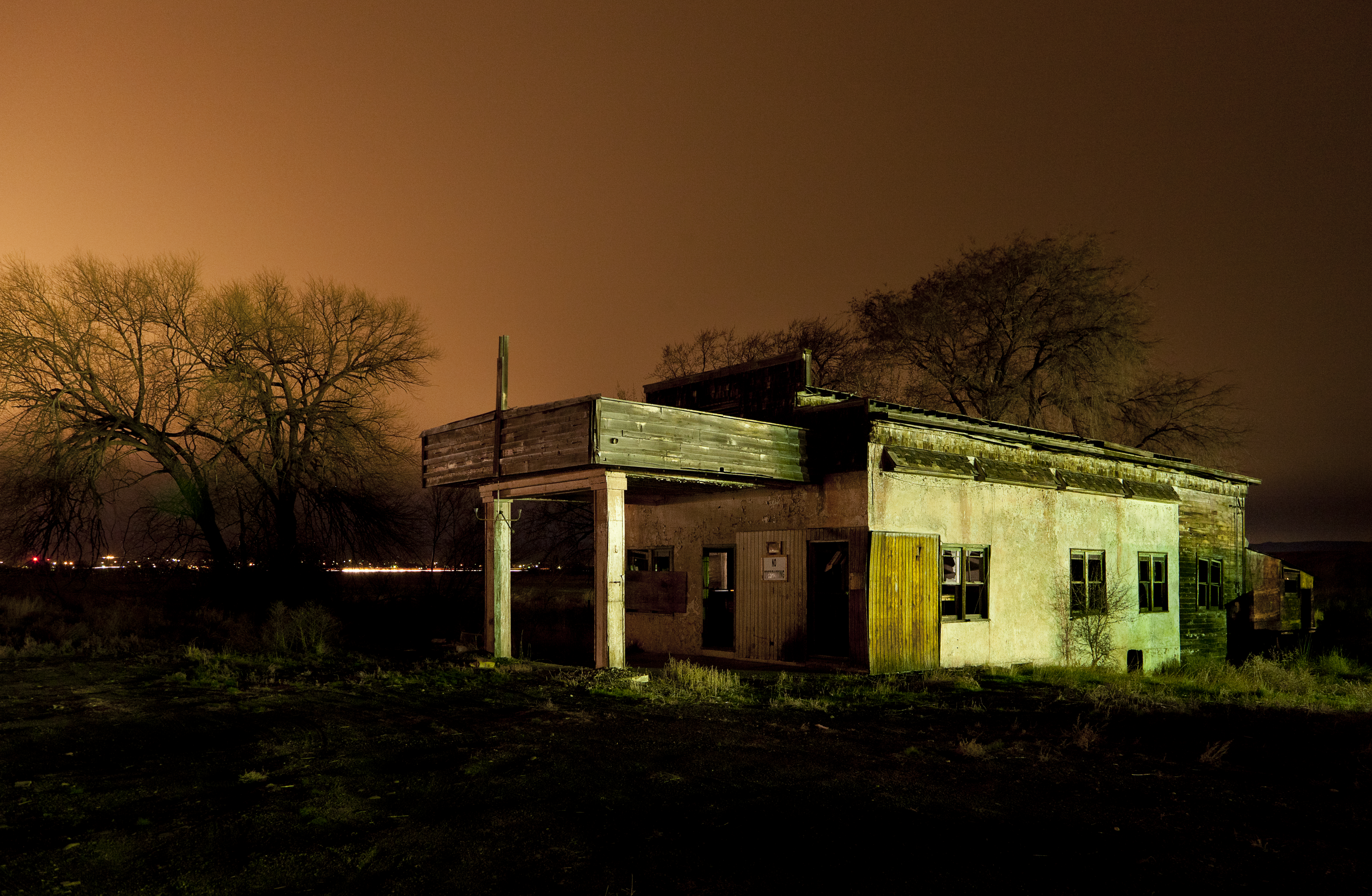 After Dark - Abandoned Gas Station