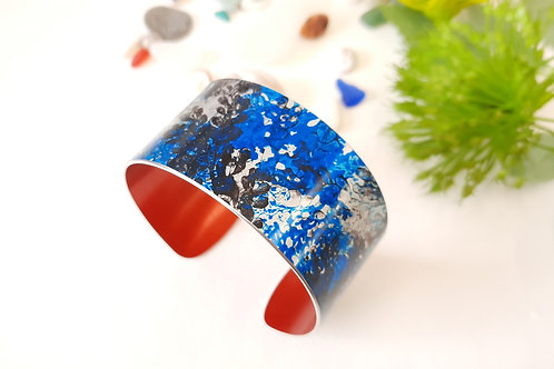Patterned Cuff Blue | Black | Red - 3 cm