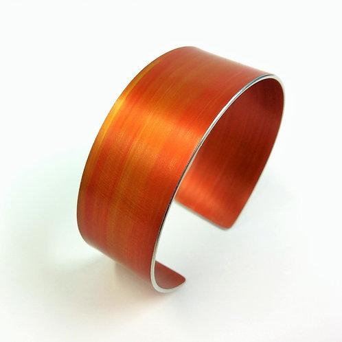 Burnt Orange Anodised Aluminium Cuff