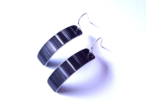 Black & Grey Anodised Aluminium Sterling Silver Earrings