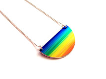 Rainbow Semicircle Pendant
