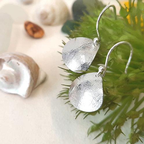 Textured Aluminium Shell Shaped Earrings