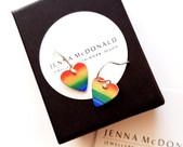 Boxed Heart Earrings