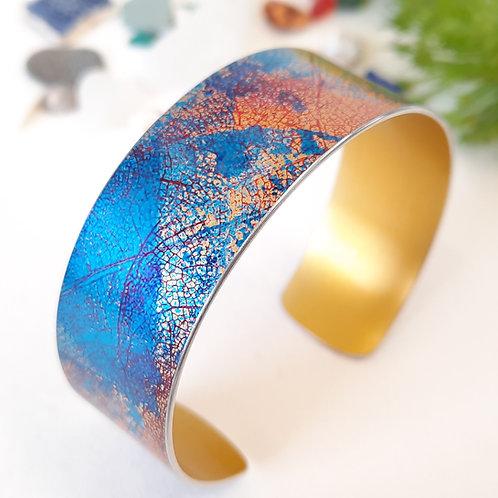Leaf Motif Cuff - Blue | Red | Gold | Orange