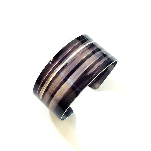 Black & Grey Anodised Aluminium Cuff
