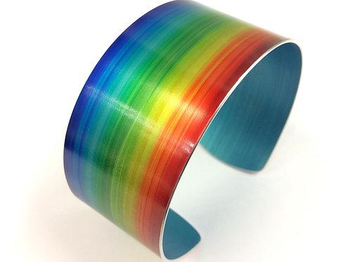 Rainbow Anodised Aluminium Cuff