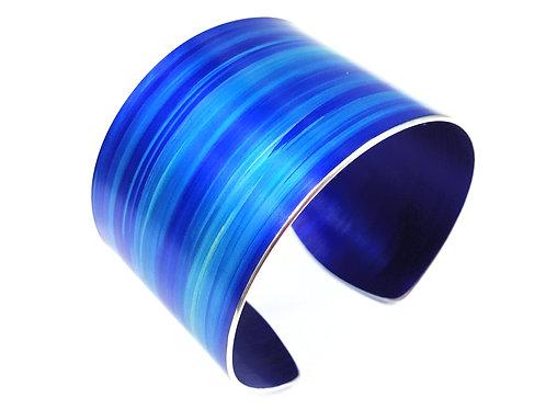 Azure Blue Anodised Aluminium Cuff - 4 cm