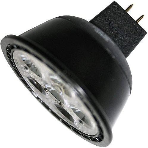 Box of 12 -  LED - 6.5W= 50W Equiv. - MR16 - 2700K - GU5. -Dimmable - FL Black