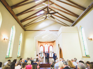 Wedding ceremony at Old Trinity Event Ve