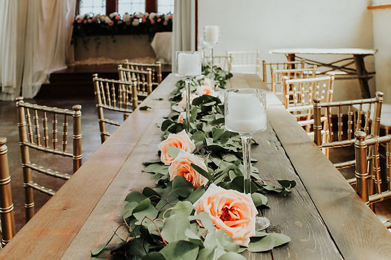 Old Trinity Event Venue Table with Flowe