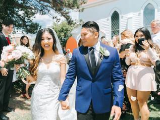 Wedding ceremony at Old Trinity