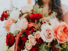 Red and White Floral Arrangement