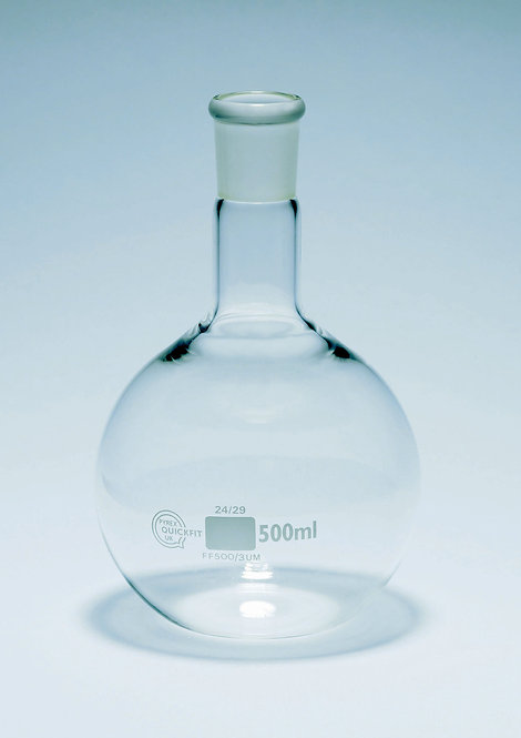 Flask, Boiling  with Flat Bottom, 500ml Borosil