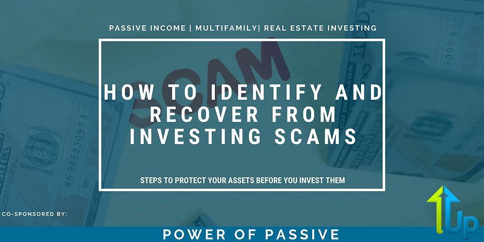 [WEBINAR] How to Identify and Recover from Investing Scams