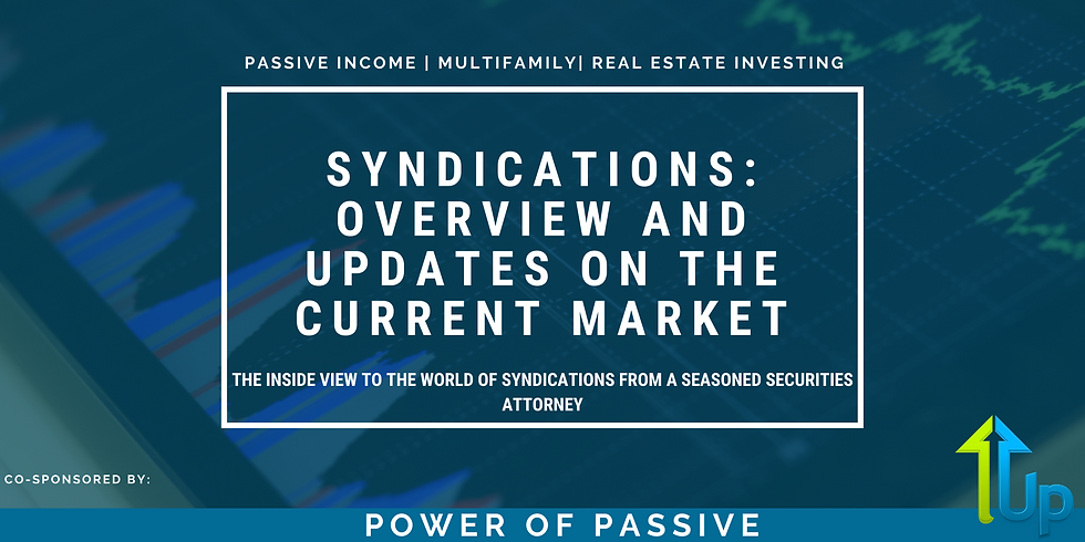 [WEBINAR] Syndications: Overview and Updates on the Current Market
