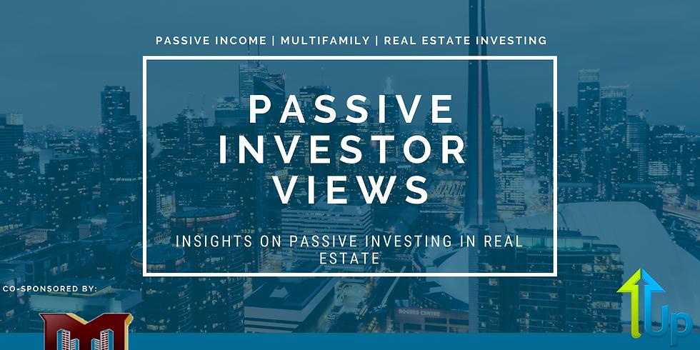[WEBINAR] Passive Investor Views