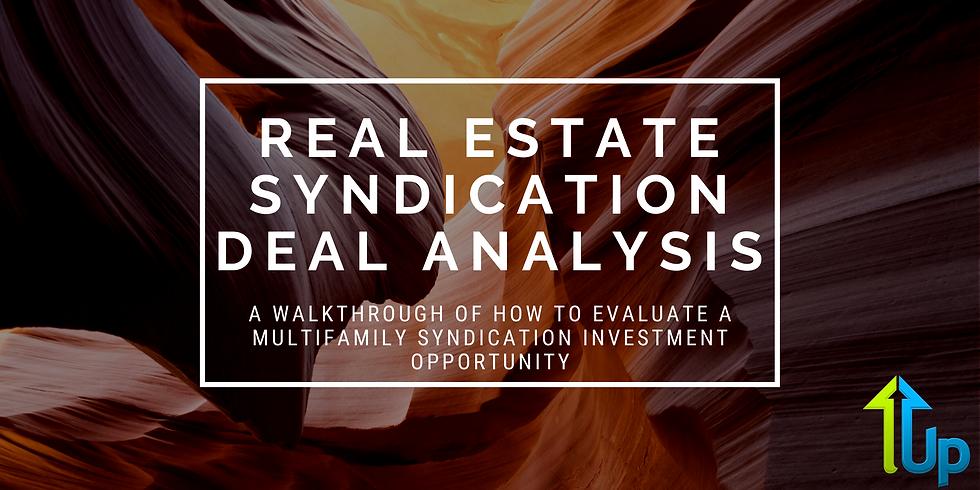 [WEBINAR] Real Estate Syndication Deal Analysis: Top Keys For Passive Investors