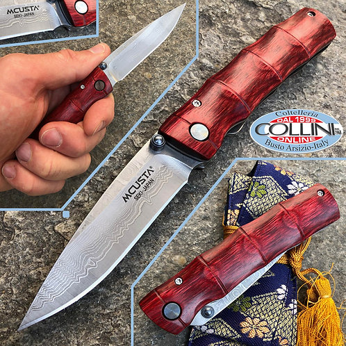 Mcusta - Take knife VG10 Damascus - Shinra Serie - Stamina Wood - MC-0075D