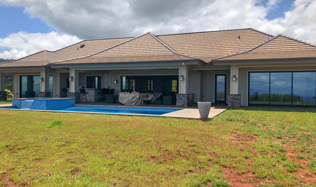 Marathon - Back yard with pool and spa