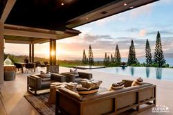 Lanai and Pool at Sunset-1a