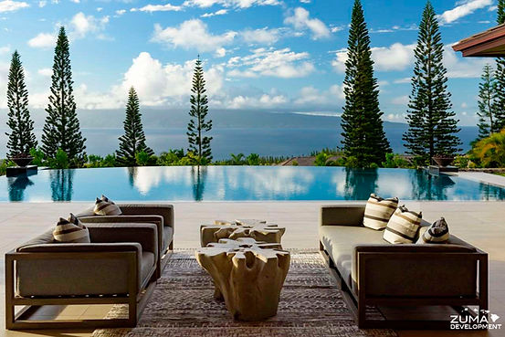 relax by your custom pool knowing Zuma Development is licensed and insured in Hawaii