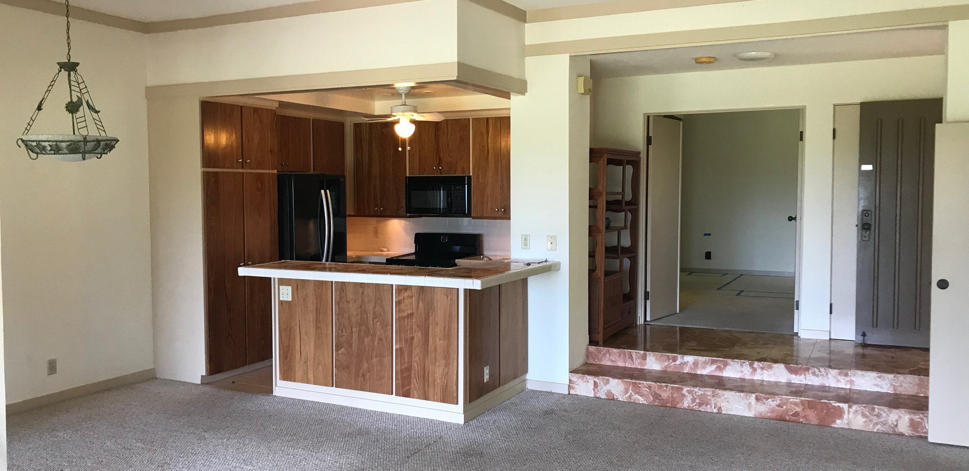 Living/Dining/Kitchen Before