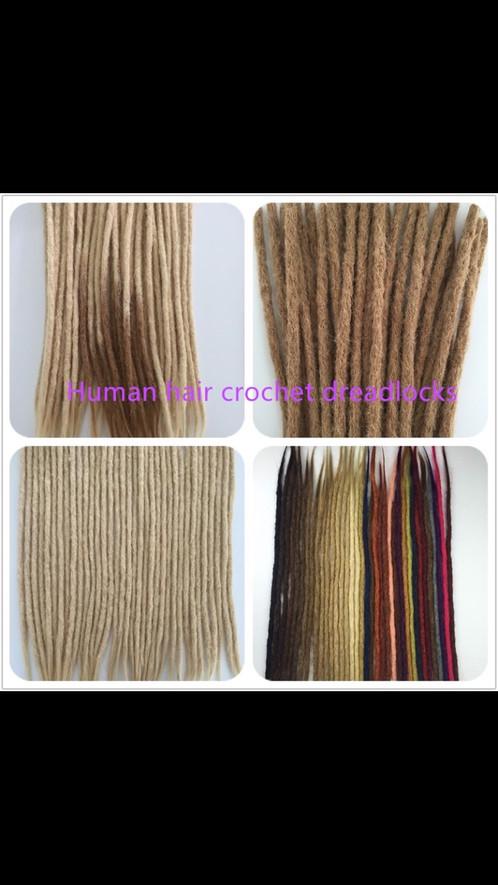 100 Human Hair Handmade Locs