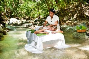River massage at Casa Bonita