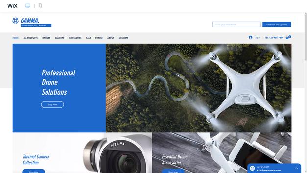 drón webshop