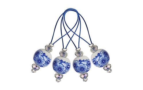 Маркеры петель ZOONI Blooming Blue Knitpro